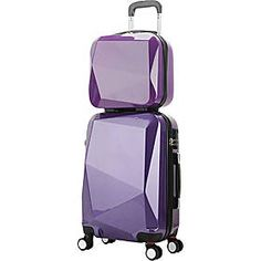 World Traveler Diamond 2 Piece Carry-On Spinner Luggage Set, Purple Best Carry On Luggage, Cute Luggage, Luggage Sets, Travel Luggage, Travel Bags, Purple Luggage, Girls Luggage, Designer Luggage, Fashion Bags