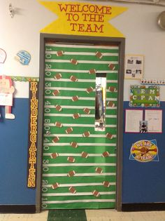 Sports door for catholic schools week/integrated with sports/football theme