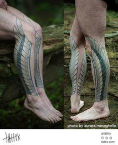 tattrx | Idexa Stern Black n Blue Tattoo SF Aurora Meneghello abstract tattoos san francisco california design ink art tatuajes tatuagens inked