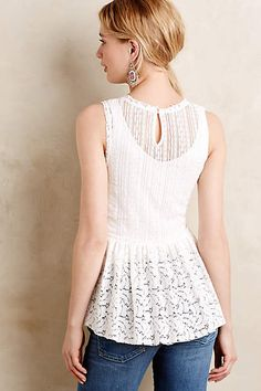 Flared Lace Top - anthropologie.com