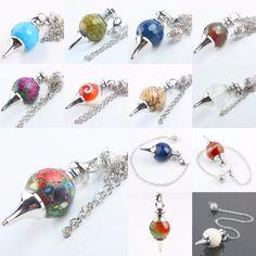 SUNYIK Stone Ball Healing Dowsing Reiki Chakra Pendulum+Chain #Affiliate