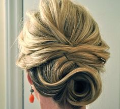 Beautiful updo... If the bobby pins were hiding, it would be perfect.