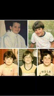 New Kids On The Block as kids before being New Kids z (L to R: Joe, Jon, Jordan, Donnie & Danny.)