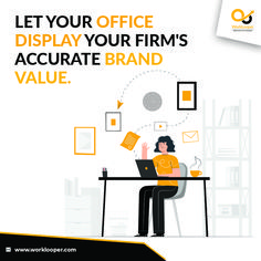 Let Your Office Display Your Firm's Accurate Brand Value. #OfficeBranding #Branding #Brand #Office Office Branding, Logo Branding, Branding Services, Unique Image, Workplace, How To Memorize Things, Display, Floor Space, Billboard
