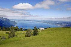 La vue sur le lac depuis Les Agites, au début de la vallée de l'Hongrin. Canton, Geneva, Golf Courses, Photos, Lake Geneva, Pictures
