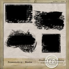 Quality DigiScrap Freebies: Penmanship masks freebie from ViVa Artistry Digital Scrapbooking Freebies, Digital Scrapbook Paper, My Scrapbook, Free Photoshop, Photoshop Photography, Album, Craft, Images, Penmanship