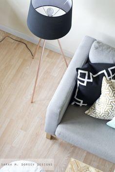 sarah m. dorsey designs: Knocktoberfest | Tripod Floor Lamp