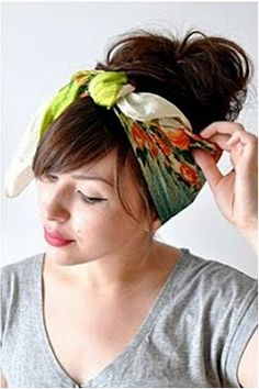 Love My Hairstyle: How To: Tie A Hair Scarf
