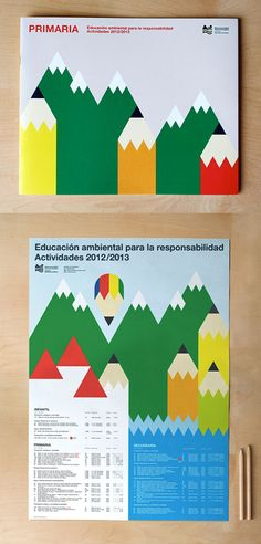 Roseta y Oihana is a Barcelona based design agency founder by Roseta Mus Pons and Oihana Herrera Erneta. I absolutely love the identity and publication design they did for the MCP's (Commonwealth of the Pamplona) Environmental Education Program.