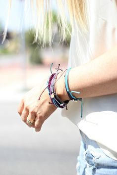 Obsessed with this stacked bracelet look.