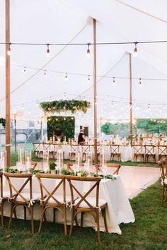 Tented wedding reception with botanical + candlelit tablescape at Eve of Milady in Winterthur, Delaware. Dream turned reality by Planner- Proud To Plan, Florist- Beautiful Blooms and Photographer- Hudson Nichols Photography. White Tent Wedding, Outdoor Wedding Reception, Outdoor Wedding Decorations, Outside Wedding, Dream Wedding, Tent Wedding Receptions, Wedding Tent Lighting, Backyard Tent Wedding, Wedding Reception Layout