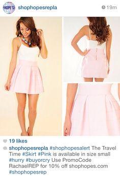 High waisted skirt with plain tank! Love