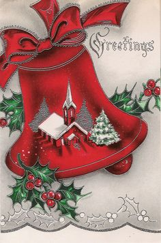 Examples of actual Vintage Christmas Cards in the collection.