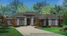 The Braedan, a modern one-story Prairie-style Home Plan | House Plan