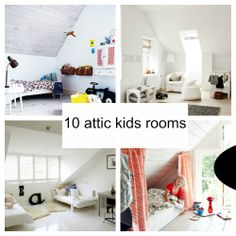 10 BEAUTIFUL ATTIC KIDS ROOMS http://www.decopeques.com/10-habitaciones-infantiles-en-la-buhardilla/