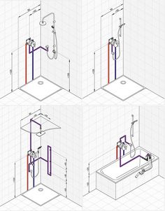 Bathroom Layout Plans, Bathroom Design Layout, Bathroom Design Luxury, Home Room Design, Interior Design Tools, Interior Decorating Styles, Bathroom Dimensions, Plumbing Installation, Plumbing Pipe Furniture