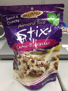 Mrs. May's naturals almond rice stix cran-blueberry