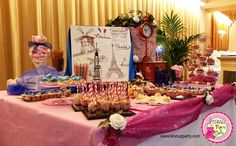 Mesa dulce Temática París - Lesnuzparty