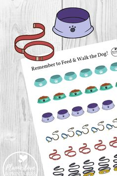 Pet Care Stickers - Plannerlove & Printables Best Picture For Pet Care Printables dogs For Your Tast Free Printable Stickers, Free Printable Worksheets, Free Printables, Free Planner, Happy Planner, Planner Ideas, Functional Planning, Greyhound Rescue, Custom Planner