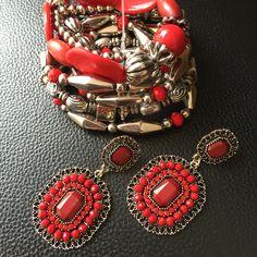 Vermelho e prata... Perfeito!