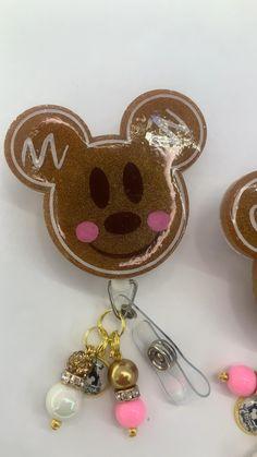 #disney #badgereel #badges #id #idholder #nurse #emt Id Holder, Badge Holders, Swipe Card, Mickey Minnie Mouse, Badge Reel, Badges, Gingerbread, Sparkle, Drop Earrings