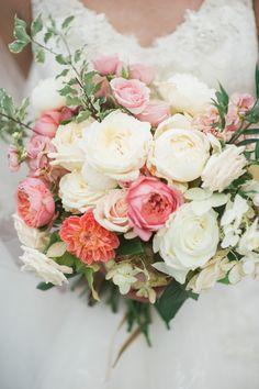 Romantic bouquet: http://www.stylemepretty.com/2015/05/14/northern-michigan-romantic-autumn-wedding/   Photography: Kelly Sweet Photography - www.kellysweet.com/