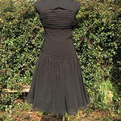 NWOT Zara Black Shutter Strapless pleat  Dress S Coming soon in a few days- NWOT ZARA Black Shutter Pleat Strapless Cocktail Dress S   NWOT Zara Basic 1862 Black Shutter Pleat Strapless Dress S  •Silhouette: Drop Waist •Sleeve Length: Strapless •Closure: Hidden Back Zipper •Dress Length: Above Knee, Mini •Total Length: 30 Inches •Bust Across: 14 Inches •Waist Across: 14 Inches •Hips Across: Inches •Material: 100% Polyester •Fabric Type: Polyester •Specialty: Shutter Pleat •Style Number…