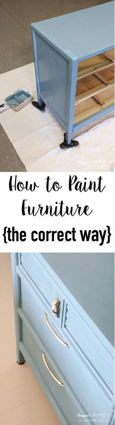 FINALLY a tutorial to show you how to paint a dresser the correct way with the best products for the job! With these products and technique, your painted furniture will stay beautiful for the long term! -- Love this home furniture tips. Old Furniture, Refurbished Furniture, Repurposed Furniture, Furniture Projects, Furniture Making, Furniture Makeover, Dresser Furniture, Bedroom Furniture, Furniture Refinishing