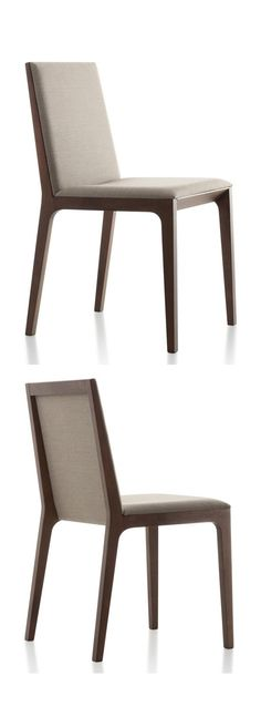 At first glance Deore DRS101 by Fornasarig appears to be a regular wood dining chair, but like many Fornasarig products the beauty lies in the small details. Each line has been expertly designed to and the joins between the different materials are perfectly finished. Truly a very special contemporary dining chair.