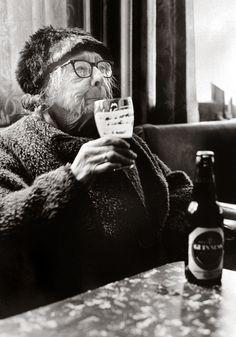 Tony Bock.  At The Royal Oak, Bethnal Green. London, 1970s