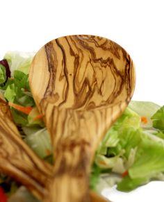 "Salatbesteck ""Medina"" aus Olivenholz 30 cm   treevoli"