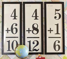 Flash Card Framed Art. such a fun idea to decorate a homeschool room