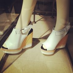 #whitewedgeheel #womenshoes #trendspotted at #beams in #harajukufashionshops