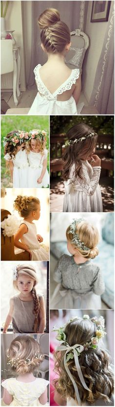 Flower Girls » 22 Adorable Flower Girl Hairstyles to Get Inspired » ❤️ See more: http://www.weddinginclude.com/2017/04/adorable-flower-girl-hairstyles-to-get-imspired/