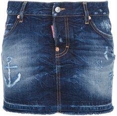 DSQUARED2 Denim Mini Skirt - Lyst