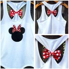 Show your Minnie love with this adorable, super sparkly Minnie Mouse Inspired bow back tank top! Our bow back tank tops have detachable bows for Disney Diy, Disney Babys, Disney 2017, Disney Tees, Disney Crafts, Disney Cruise, Disney Family Shirts, Disney Tank Tops, Disney Shirt For Women