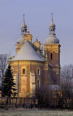 Old Church in Golab a small village near Vislula. Poland.