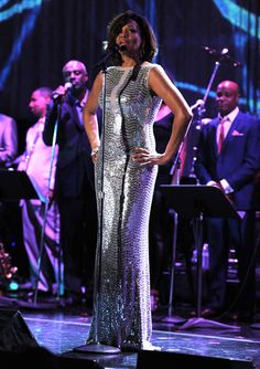Whitney Houston at the pre-Grammy Awards Gala exactly one year ago today - February 12, 2011. Getty Images photo