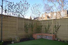 Venetian Hit and Miss corner fence panels