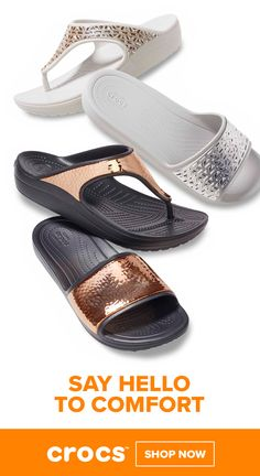 7d4a8b8093c331 Comfortable Women s Embellished and Metallic Sandals by Crocs Women s  Sandals