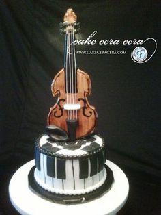 Violin Cake  by Cake Cera Cera www.CakeCeraCera.com