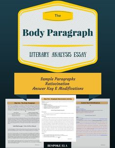 Why to assign summary and response essays before a research paper in this mini lesson students learn about the parts of the body paragraph for fandeluxe Images