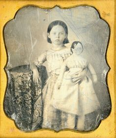 Girl With Large Doll Daguerreotype