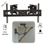 Corner 37-63 132lbs Full Motion Swivel Tilting LCD LED Monitor Wall TV Mount Bracket
