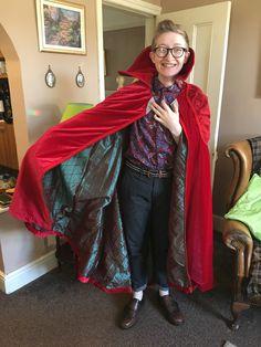 Dr Strange Cape, Red Leather, Leather Jacket, Sari, Halloween, Jackets, Style, Fashion, Studded Leather Jacket