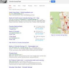 """Infront Webworks client 5 Star Bank ranking 1st page of Google for """"Colorado Springs Banks"""""""