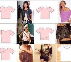 Diy how to cut shirts Zerschnittene Shirts, Diy Cut Shirts, Diy Vetement, Ideias Diy, Clothing Hacks, T Shirt Diy, Diy Tshirt Ideas, Mode Inspiration, Sewing Clothes