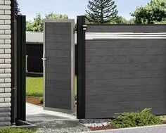 wpc zaun kombination mit gabionen gartenzaun wpc verbundplatten mit gabionen pinterest. Black Bedroom Furniture Sets. Home Design Ideas