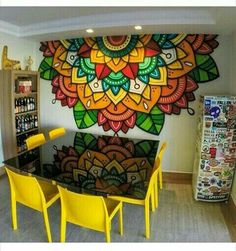 Art Wall Painting Ideas Mandala Ideas Your Own Home Interior Ideas 2008 Keywords Wall Painting Decor, Mural Wall Art, Wall Paintings, Painting Furniture, Wall Art Designs, Wall Design, Mandala Mural, Mandala Painting, Hippie Painting