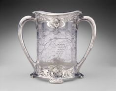 Metalwork: Gorham Manufacturing Company (American, 1831–present); glass: T. G. Hawkes and Company (American, 1880–1964), Loving Cup, silver,...